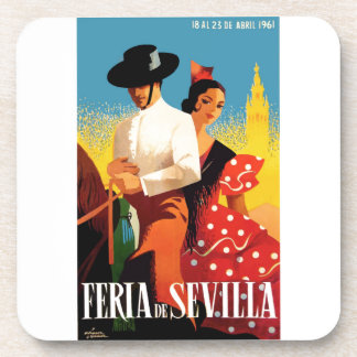 Spain 1961 Seville April Fair Poster Coaster