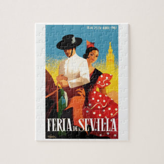 Spain 1961 Seville April Fair Poster Puzzle