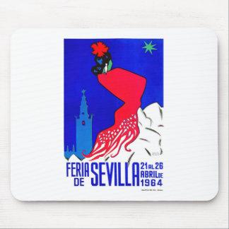 Spain 1964 Seville April Fair Poster Mouse Pad