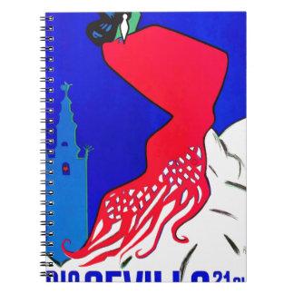 Spain 1964 Seville April Fair Poster Notebook