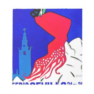 Spain 1964 Seville April Fair Poster Notepad