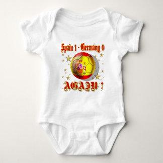 Spain 1 Germany 0 Again Spain Champions Baby Bodysuit