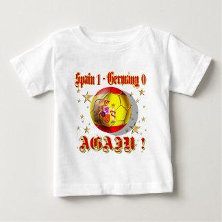 Spain 1 Germany 0 Again Spain Champions Baby T-Shirt