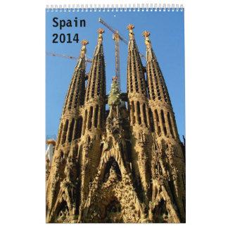 Spain 2014 wall calendars