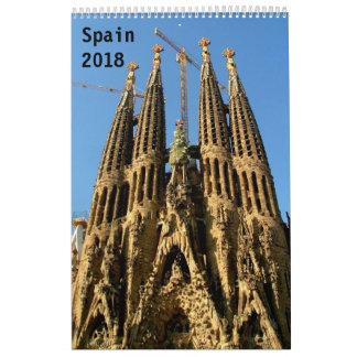 Spain 2018 wall calendar