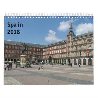 Spain 2018 wall calendars