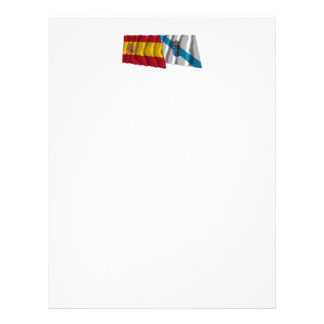 Spain and Galicia waving flags Letterhead Template