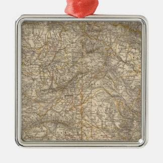 Spain And Portugal Atlas Map Metal Ornament