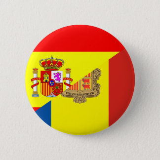 spain andorra half flag country symbol 2 inch round button