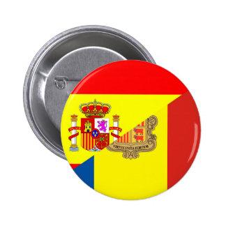 spain andorra half flag country symbol 2 inch round button