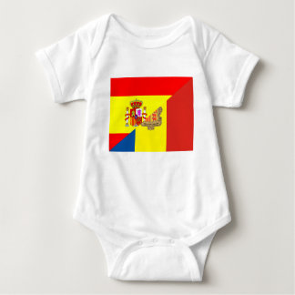 spain andorra half flag country symbol baby bodysuit