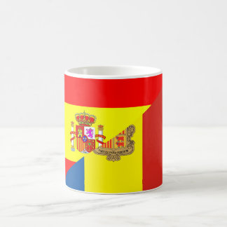 spain andorra half flag country symbol coffee mug