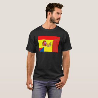 spain andorra half flag country symbol T-Shirt