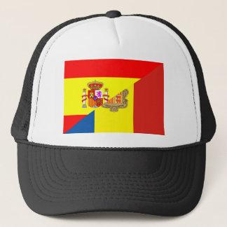 spain andorra half flag country symbol trucker hat