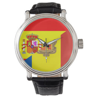 spain andorra half flag country symbol watch