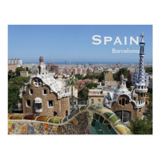 Spain Barcelona Vintage Travel Tourism Add Postcard
