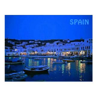 spain blue postcard