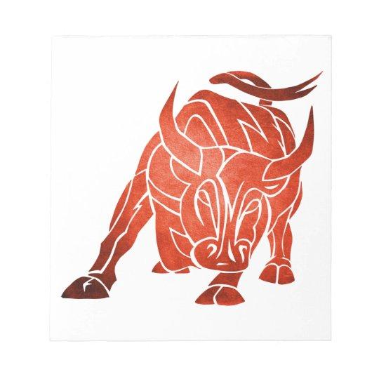 Spain bull notepad