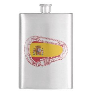 Spain Carabiner Flag Hip Flask