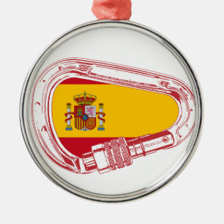 Spain Carabiner Flag Metal Ornament