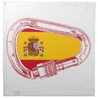 Spain Carabiner Flag Napkin