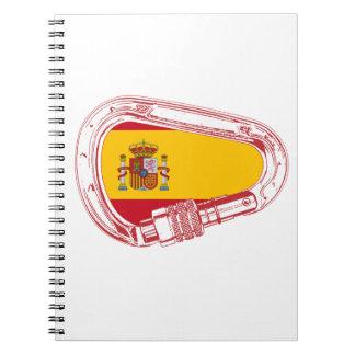 Spain Carabiner Flag Notebooks