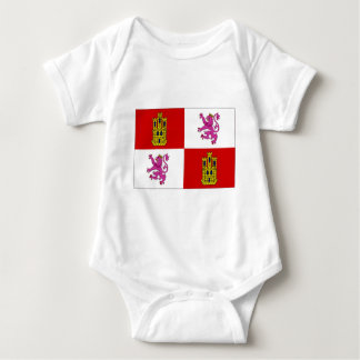 Spain Castilla Leon Flag Baby Bodysuit
