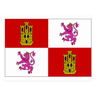 Spain Castilla Leon Flag Postcard