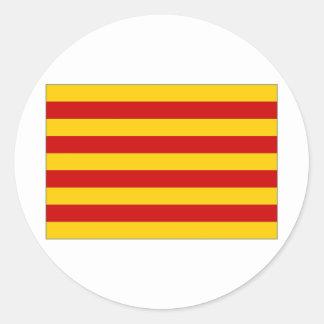 Spain Catalonia Flag Classic Round Sticker