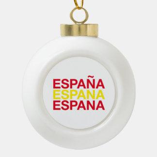 SPAIN CERAMIC BALL ORNAMENT