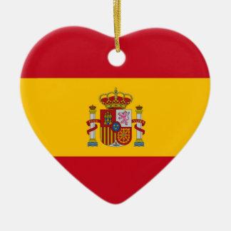 SPAIN CERAMIC HEART ORNAMENT