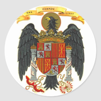 Spain Coat of Arms 1977 Round Sticker