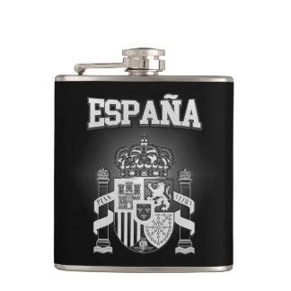 Spain Coat of Arms Hip Flask