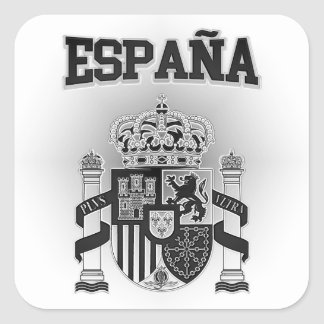 Spain Coat of Arms Square Sticker