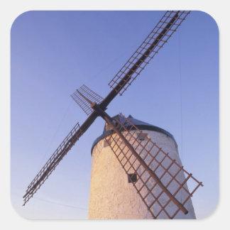 Spain, Consuegra, Castile-La Mancha Windmills 2 Square Sticker