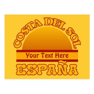 SPAIN Costa Del Sol custom postcard