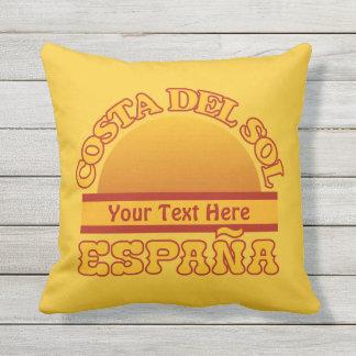 SPAIN Costa Del Sol custom throw pillow
