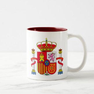 Spain emblem Two-Tone coffee mug