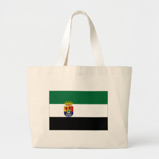 Spain Extremadura Flag Large Tote Bag