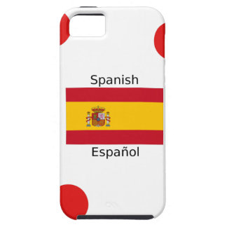 Spain Flag And Spanish Language Design Case For The iPhone 5