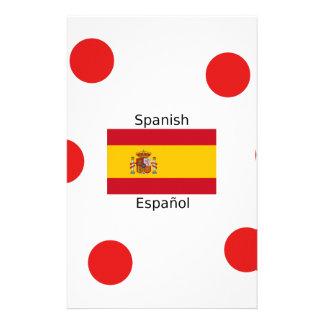 Spain Flag And Spanish Language Design Stationery
