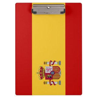 Spain Flag Clipboard