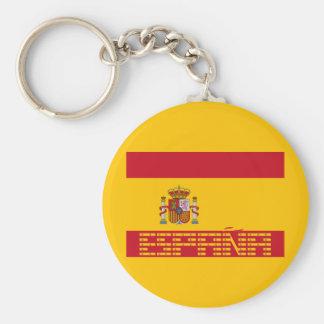 Spain - Flag / España - Bandera Basic Round Button Keychain
