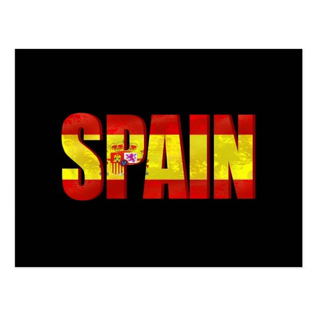 spain flag logo emblem for proud spaniards postcard zazzle ca rh zazzle ca Spain Flag Colors spain flag logo png