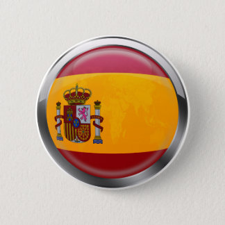 Spain flag Modern emblem badge for proud Spaniards 2 Inch Round Button