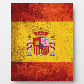 Spain flag plaque