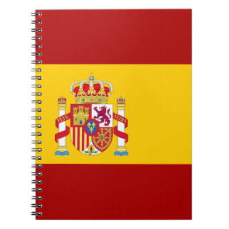 Spain flag quality notebook