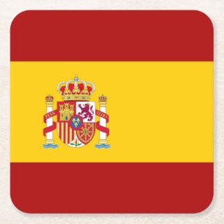 Spain flag quality square paper coaster