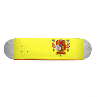 Spain Flag Skate Board