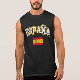Spain Flag Sleeveless Shirt